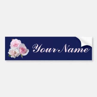 Three pink roses. bumper sticker