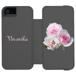 Three pink roses. iPhone SE/5/5s wallet case
