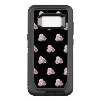Three pink roses. OtterBox defender samsung galaxy s8 case
