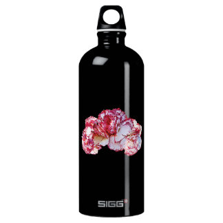 Three Pink-Tipped Carnations Aluminum Water Bottle