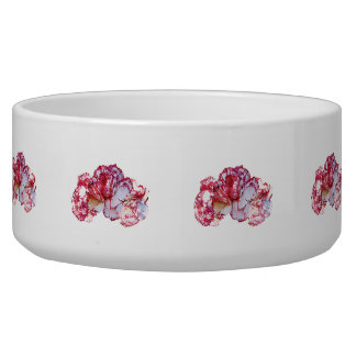 Three Pink-Tipped Carnations Bowl