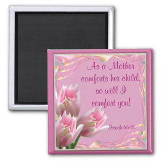 Three Pink Tulips Magnets