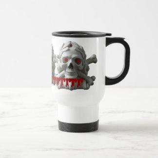 Three Pirate Skulls & Bones Drinking Travel Mug
