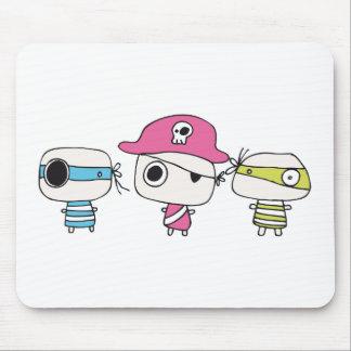 Three pirates go pastelly mouse pads