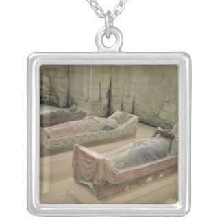 Three Plantagenet Tombs Silver Plated Necklace