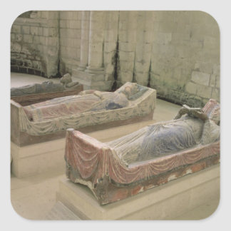 Three Plantagenet Tombs Square Sticker
