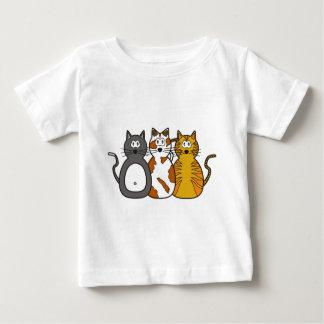 Three Playful Kittens Baby T-Shirt