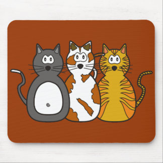 Three Playful Kittens Mouse Pad
