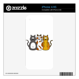Three Playful Kittens Decals For iPhone 4S