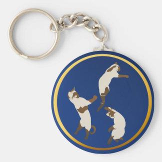 Three Playful Siamese Keychains