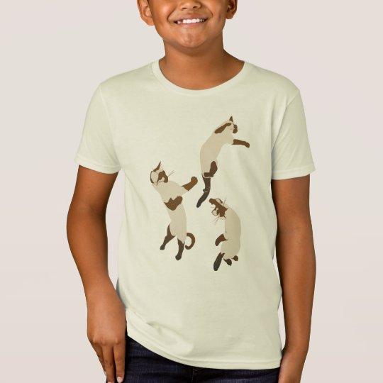 Three Playful SiameseT Shirts
