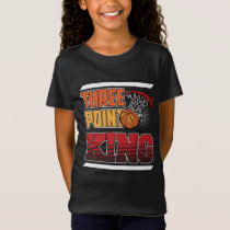 Three Point King Basketball Player Sport T-Shirt
