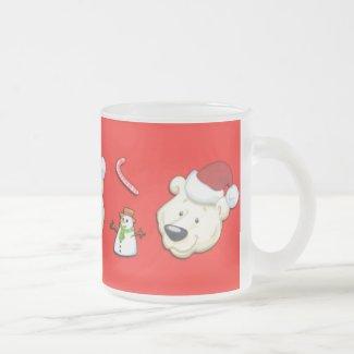 Three Polor Bears and Snowman Mug