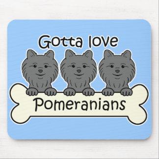 Three Pomeranians Mouse Pad