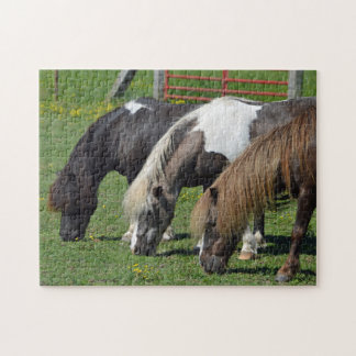 Three Ponies In A Row Jigsaw Puzzle