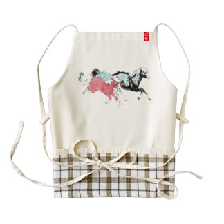 Three Ponies Zazzle HEART Apron