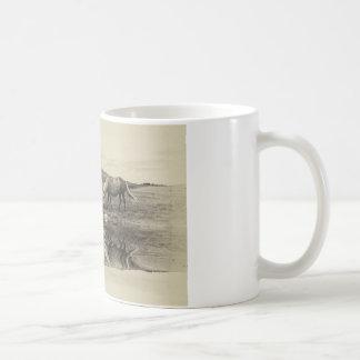 Three pony`s coffee mug
