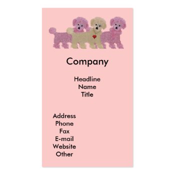 Three Poodles Business Card Templates