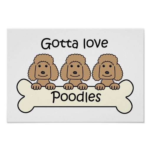 Three Poodles Posters