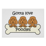 Three Poodles Print