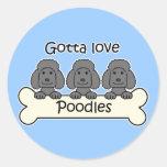Three Poodles Sticker