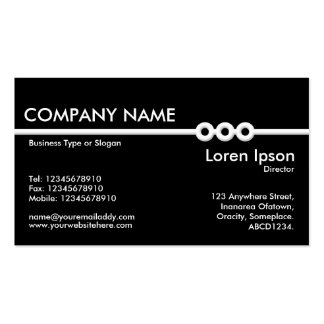 Three Portholes Line - Black Double-Sided Standard Business Cards (Pack Of 100)