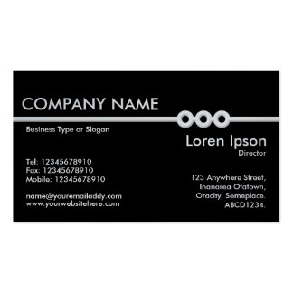 Three Portholes Line - Black (On Platinum Card) Double-Sided Standard Business Cards (Pack Of 100)