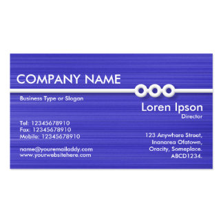 Three Portholes Line - Blue Brushed Double-Sided Standard Business Cards (Pack Of 100)