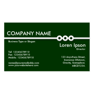 Three Portholes Line - Dark Green (003300) Double-Sided Standard Business Cards (Pack Of 100)