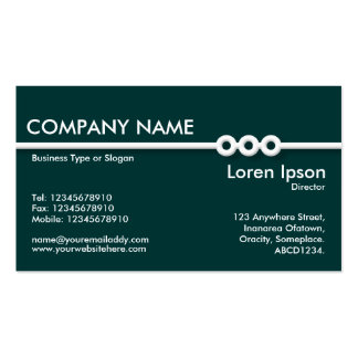 Three Portholes Line - Dark Green (003333) Double-Sided Standard Business Cards (Pack Of 100)