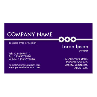 Three Portholes Line - Deep Purple (330066) Double-Sided Standard Business Cards (Pack Of 100)
