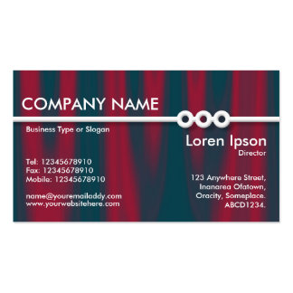 Three Portholes Line - Drapery 02 Double-Sided Standard Business Cards (Pack Of 100)