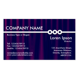 Three Portholes Line - Drapery 04 Double-Sided Standard Business Cards (Pack Of 100)