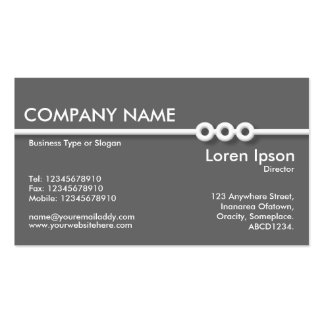 Three Portholes Line - Gray Double-Sided Standard Business Cards (Pack Of 100)