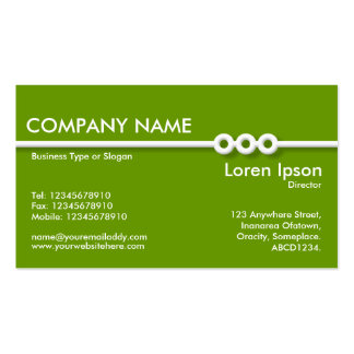 Three Portholes Line - Green (669900) Double-Sided Standard Business Cards (Pack Of 100)