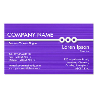 Three Portholes Line - Purple Brushed Double-Sided Standard Business Cards (Pack Of 100)