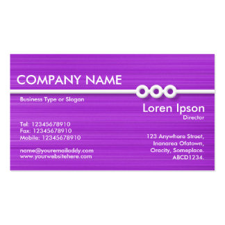 Three Portholes Line - Purple Brushed II Double-Sided Standard Business Cards (Pack Of 100)