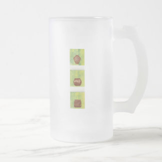 Three Pots Frosted Glass Beer Mug