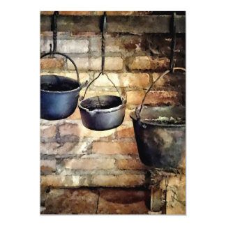 Three Pots in Colonial Kitchen Card
