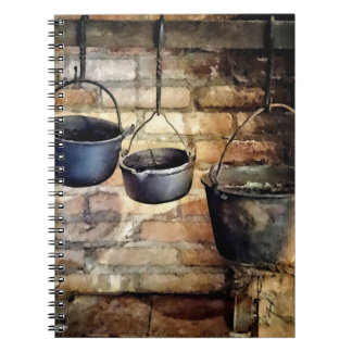 Three Pots in Colonial Kitchen Notebook