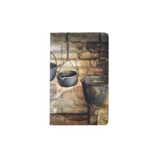 Three Pots in Colonial Kitchen Pocket Moleskine Notebook