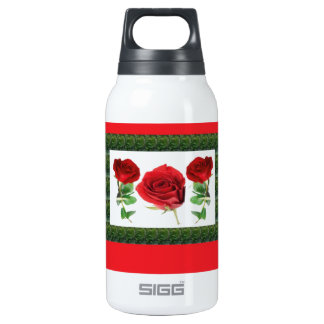 Three PRETTY Roses Insulated Water Bottle
