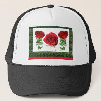 Three PRETTY Roses Trucker Hat