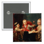 Three Princes, Children of Charles III 2 Inch Square Button