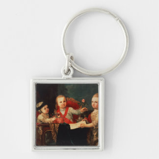 Three Princes, Children of Charles III Keychain