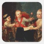 Three Princes, Children of Charles III Square Sticker