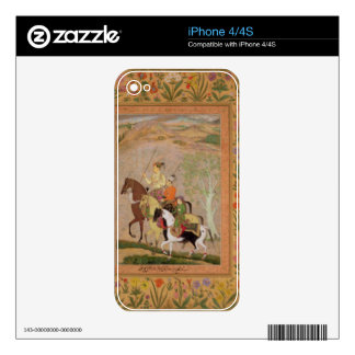 Three Princes Going Hunting, c.1635 (gouache on pa Decals For iPhone 4