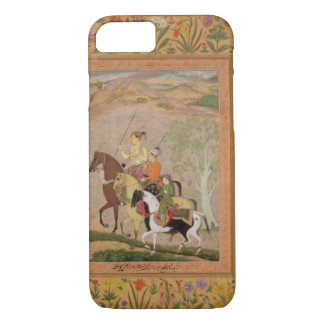 Three Princes Going Hunting, c.1635 (gouache on pa iPhone 7 Case