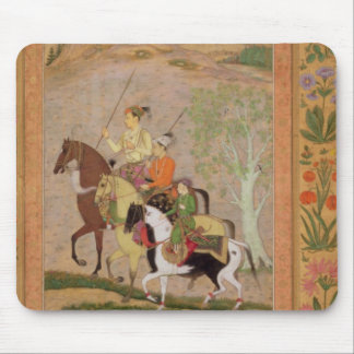 Three Princes Going Hunting, c.1635 (gouache on pa Mouse Pad