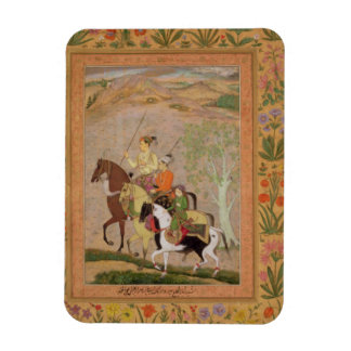 Three Princes Going Hunting, c.1635 (gouache on pa Vinyl Magnets